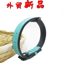 Dog Neck Ring Double Layer Leather Black Hardware Small Large Dogs Only Pet Collar
