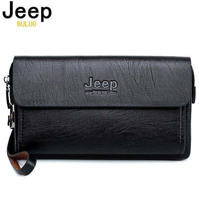 Jeep Buluo Beroemde Merk Heren Handtas Dag Koppelingen Tassen Luxe Voor Telefoon En Pen Hoge Kwaliteit Gemorst Lederen Portefeuilles hand Tas