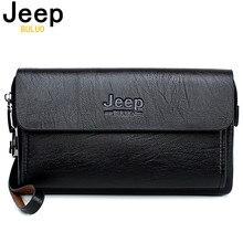 ジープbuluo有名なブランド男性のハンドバッグ日クラッチバッグ高級電話とペン高品質革の財布をこぼしハンドバッグ