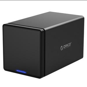 Orico Funda de disco duro 3,5 SATA a USB 3,0, carcasa de disco duro para guardar 2 cajas de disco duro HDD, caja tipo C, compatible con UASP para Windows/Max/Linux