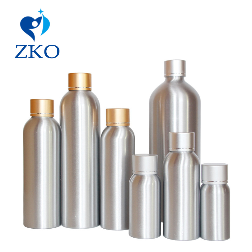 1pcs30ml/50ml/100ml/120ml/150ml/200ml/250ml/500ml Top Grade Hot Sale Bright Gold Silver Cover With Aluminum Bottle Free Shipping