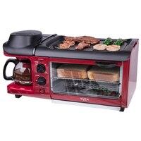 Máquina de desayuno multifunción 3 en 1 de 220 V  tostadora  horno  sartén eléctrica  cafetera Teppanyaki