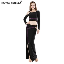 Women Free shipping belly dance costume suit Split Skirt New design performance belly dance suit hot