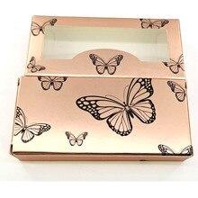 NEW 50/pcs holographic butterfly Eyelash Packaging Box Wholesale Empty Eyelash Package Boxes Case 25mm Lashes Rectangle Box