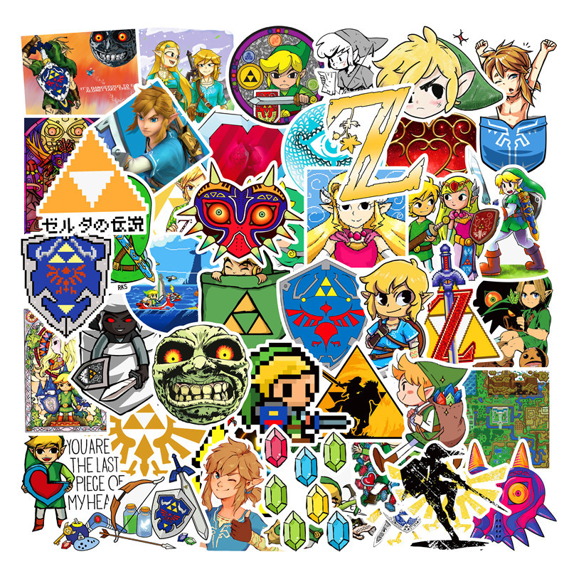 47pieces Zeldaes Game Stickers For Wall Decor Fridge Motorcycle Bike Refrigerator Laptop Car Stickers No Repeat