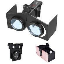 """Gafas plegables VR para realidad Virtual, gafas plegables portátiles 3D para juegos de películas VR para teléfonos inteligentes Android IOS de 4,5 """" 6"""""""