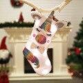 Presente de natal Meia Do Natal Unicórnio Meia Luz Branca Doces Saco Do Presente Meias Árvore de Natal Pendurado Decoração de Natal Navidad