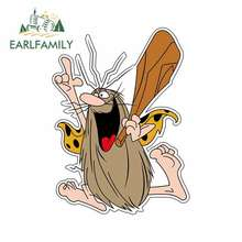 EARLFAMILY 13cm x 9.6cm for Captain Caveman Cartoon Funny Car Stickers JDM Vinyl Wrap Waterproof Anime RV VAN 3D Fine Decal