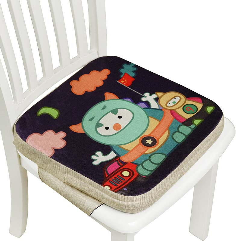 5cm Soft Baby Children Dining Cushion Children Increased Chair Pad Adjustable Removable Chair Booster Cushion Pram Chair Pad