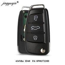 Jingyuqin Chiave A Distanza Dell'automobile per Audi A3 S3 A4 S4 TT 434MHz ID48 8P0837220D 8X0837220D 220D 2005-2013