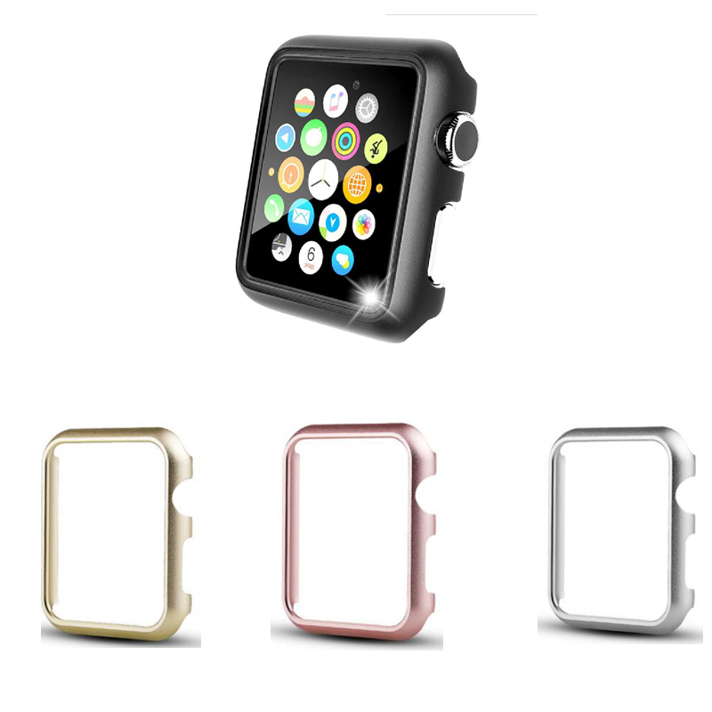 case For Apple watch band 44mm series 5 4 Aluminum alloy Frame strap bumper For iwatch 3 2 1 cover 40 38mm 42mm protective shell image