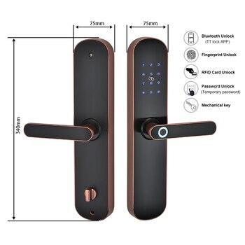 Elektronische Biometrische Vingerafdruk Wifi Smart Deurslot  5