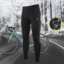 Santic Men Cycling Pants Winter MTB Long Pants Reflective Keep Warm Bicycle Sports Leisure Trousers Asian Size K7MB018H