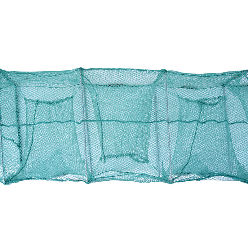 3.7 M 19 Section 12-Hole Shrimp Net Fish Cage Fishnet Eel Loach Carp NetDragon Shrimp Farming Escape-proof