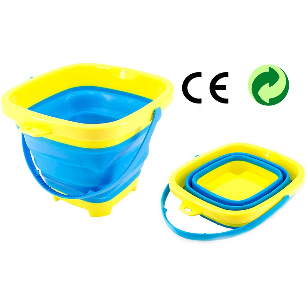 Cubo Portátil Plegable De Playa De Silicona Para Niños; Para Juegos De Agua, Herramienta De Juguete Para El Verano