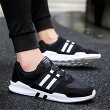 2020 frühling Neue Atmungsaktive Mesh Sport Schuhe Casual Studenten Laufende Farbe Passenden Gestreiften männer Flache Schuhe