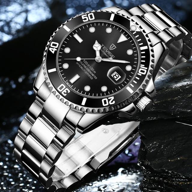 TEVISE Elite Ghost Men Mechanical/Quartz Luminous Business Wristwatches 4