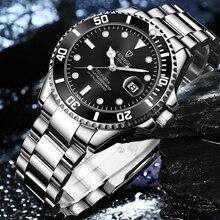 Fashion Brand TEVISE Green Water Ghost Men Stailness steel Automatic Mechanical/Quartz Watch Men Luminous Business Wristwatches