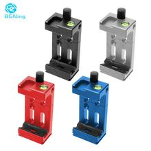 XJ 8 Tripod phone tripod mount Head Bracket Mobile Phone Holder Clip For Phone Flashlight Microphone With Spirit level