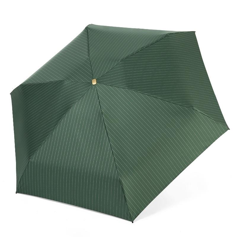 Mini pocket small fresh stripe flat umbrella rain gear folding UV protection men's umbrella folding women's umbrel S504