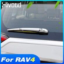 Couverture dessuie glace pour Toyota Rav4 2021 2020, accessoires de pare brise arrière, bandes de visière de pluie en ABS chromé, décoration extérieure