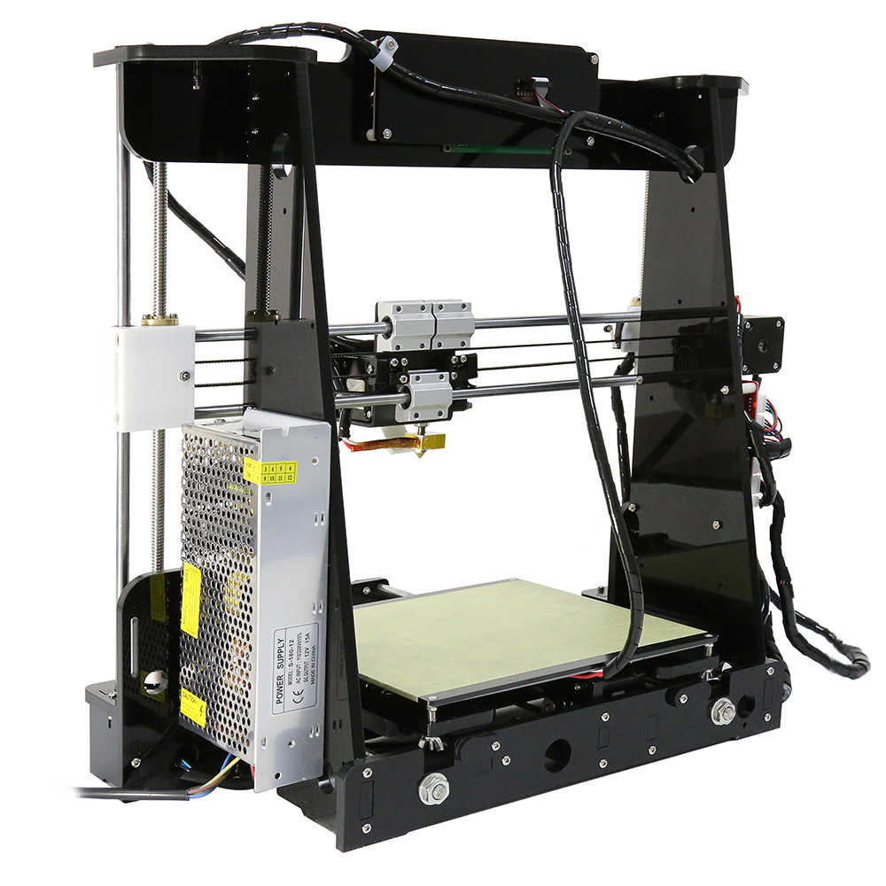 Anet a6/a8 nível automático & normal impressora 3d 0.4mm bocal i3 liga de alumínio viveiro pritner diy kit filamento 8g cartão sd