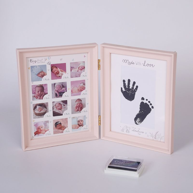Kids Birthday Gift Newborn Baby Hand And Foot Ink Pad Print Hundred Days Infants Full Moon Age Growth Commemorative Photo Set