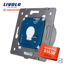 Livolo EU Standard,1 Gang 2 Way Control, AC 220~250V, Wall Light Touch Screen Switch Without Glass Panel,VL-C701S(China)