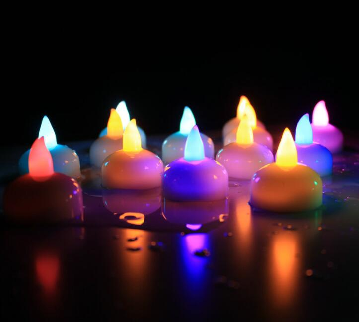 Electronic Candle Lamp Induction Waterproof LED Small Tea Wax Wedding Bar Plastic Candle