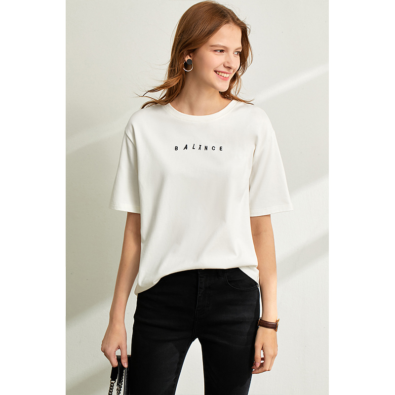 Letter Cotton T-shirt