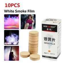 10PCS/Box White Smoke Film Halloween Wedding Photography Auxiliary Decorative Props DIY Decoration Pills