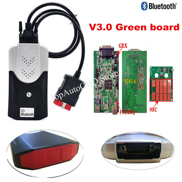 2017.R3 software VD  Best V3.0 PCB for delphis obd2 Scanner diagnostic tool for  pro with bluetooth