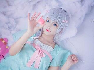 美女号coser推荐@羽天Shine,大眼双马尾小萝莉的可爱暴击!
