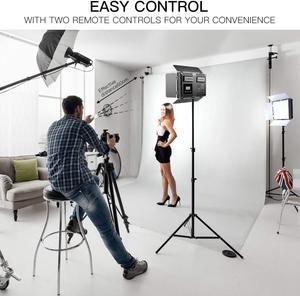 Image 5 - Travor 2set 600pcs studio camera photo light 3200K/5500K CRI93  led video light kit with 2m tripod and NP F550 batteries youtube