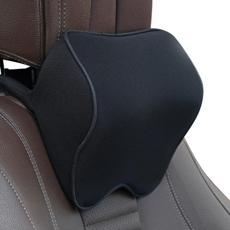 Memory Foam Car Back Support Massage Lumbar Support Cushion Ergonomic Waist Neck Rest Pillow for Auto Seat Office Chair