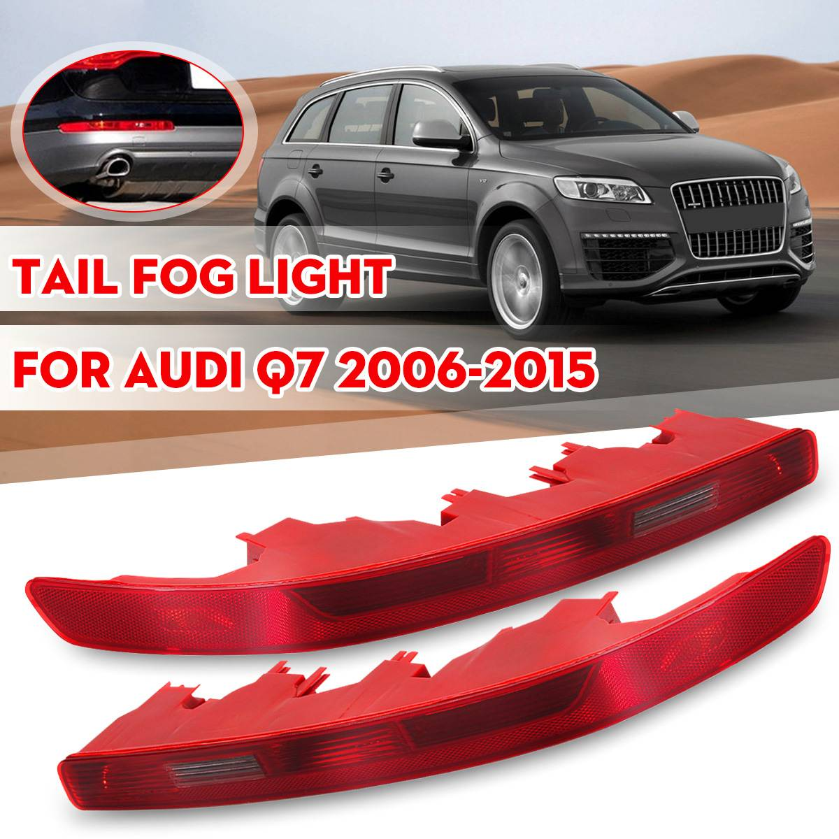 Car Left Right Side Bumper Rear Tail Light Lower Bumper Taillight Signal Lamp For Audi Q7 2006-2015 Car Light Assembly Red