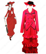 Black Butler Angelina Dares Cosplay Costume Madam Red Halloween dress(China)