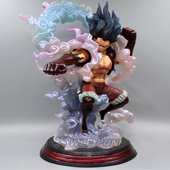 One Piece Monkey D Luffy Gear 4 Snake Form Battle Form Statue PVC Standing Posture Luffy Action Figure Collectible Model Toys