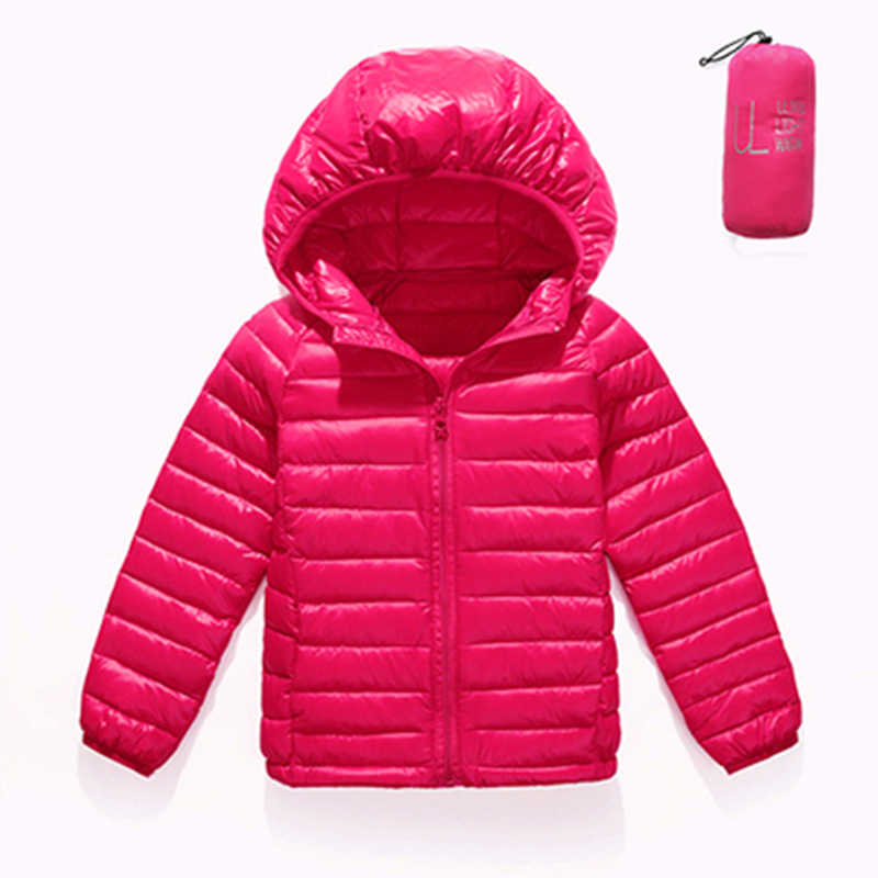Children Duck Down Jackets Coats Girls Light Down Feather Jacket Kids Down Hooded Outerwear Coats Autumn Winter
