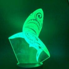 3D Lamp Shark Night Light for Children Bedroom Animal Lamp Color Changing Nightlights Lovely Led Night Light Gift for Kids light цена и фото