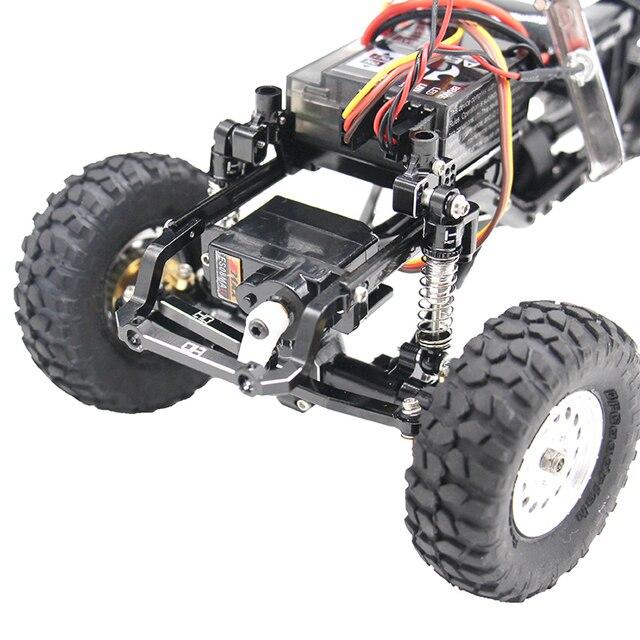 Aluminum Alloy  Fix Link Steering Rod  For Axial SCX24 90081 RC Crawler Car