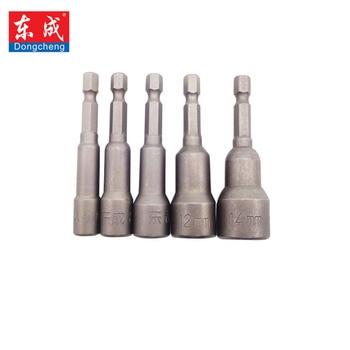 цена на Dongcheng Chrome Vanadium Steel Features 100% H Adapter Hex Shank to 6mm-12mm Extension Drill Bits Bar Hex Bit Set Hand Tools