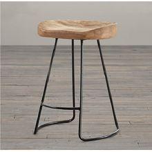Американский Стиль страны твердой древесины барный стул высокий
