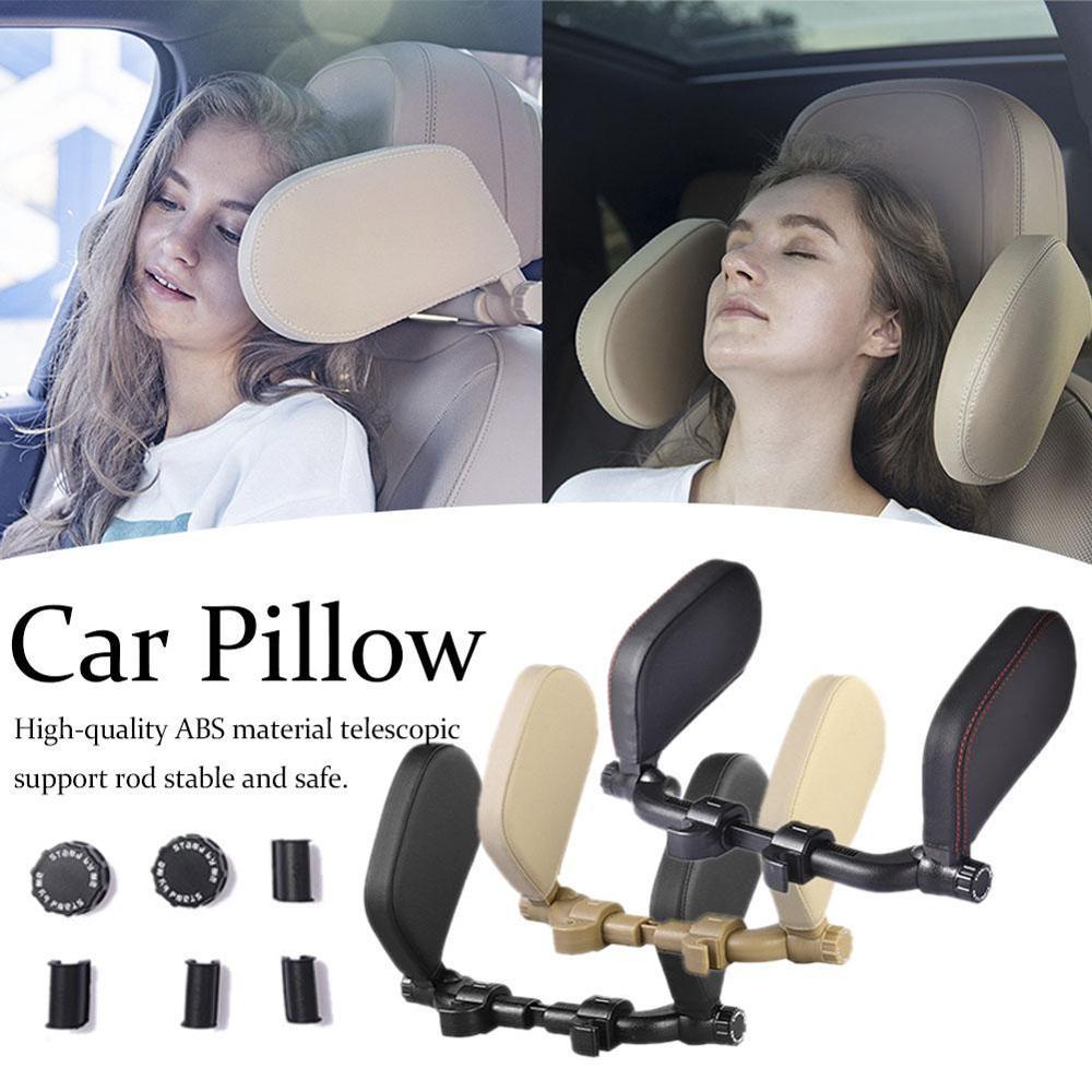3th جيل سيارة مسند الرأس بالمقعد الراحة رغوة الذاكرة وسادة مقعد السيارة الرقبة وسادة النوم الجانب داعم رأس على الجانبين للأطفال الكبار