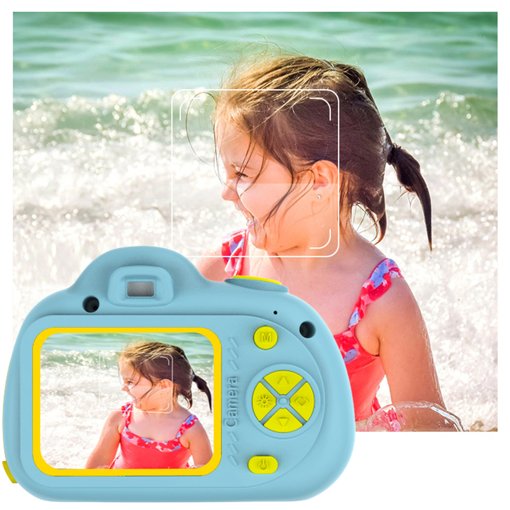 2.0 Inch Color Children Camera 1080P HD Screen Mini Cute Digital Camera Toy Video Recorder Camcorder Chargable Photography Prop