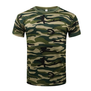 Outdoor Hunting Camouflage T-Shirt Quick Dry Tights Army Tactical Mens Compression T-Shirt Fitness Bodybulding Running cycling