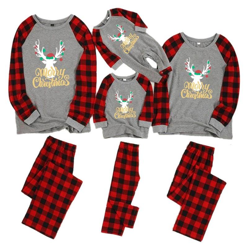 Рождественские пижамы для всей семьи, комплект для мамы, дочки, папы и сына, комбинезон, одежда для сна одинаковые комплекты для папы, мамы и меня одежда для мамы и ребенка - Цвет: color 2