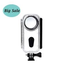 Em estoque 5m insta360 um x venture caso à prova dwaterproof água habitação escudo mergulho caso para insta360 um x acessórios da câmera de ação