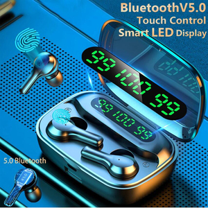 Image 1 - soleeanre Bluetooth Earphone 5.1 TWS Wireless Earphones LED with Microphone Waterproof Noise Cancel Headset Earbuds 2000mah