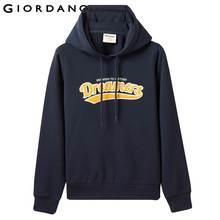 Giordano Women Sweatshirts Letter Embrodidered Hood